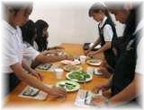 家庭科で日本食に挑戦